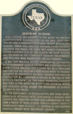 Bertram School Marker