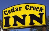 Cedar Creek Inn in Bertram sign